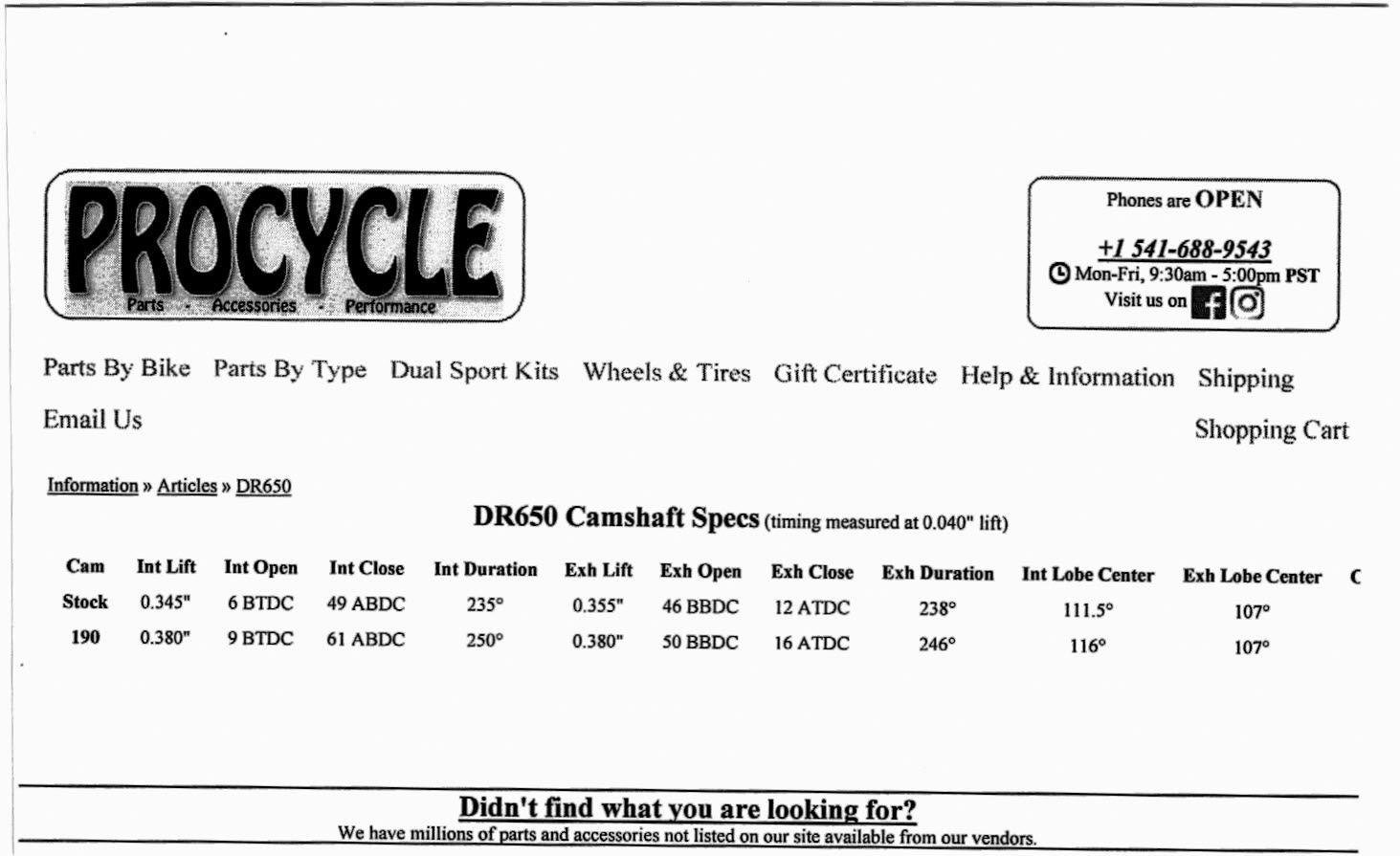 SuzukiSavage com - DR650 Cam Evaluation