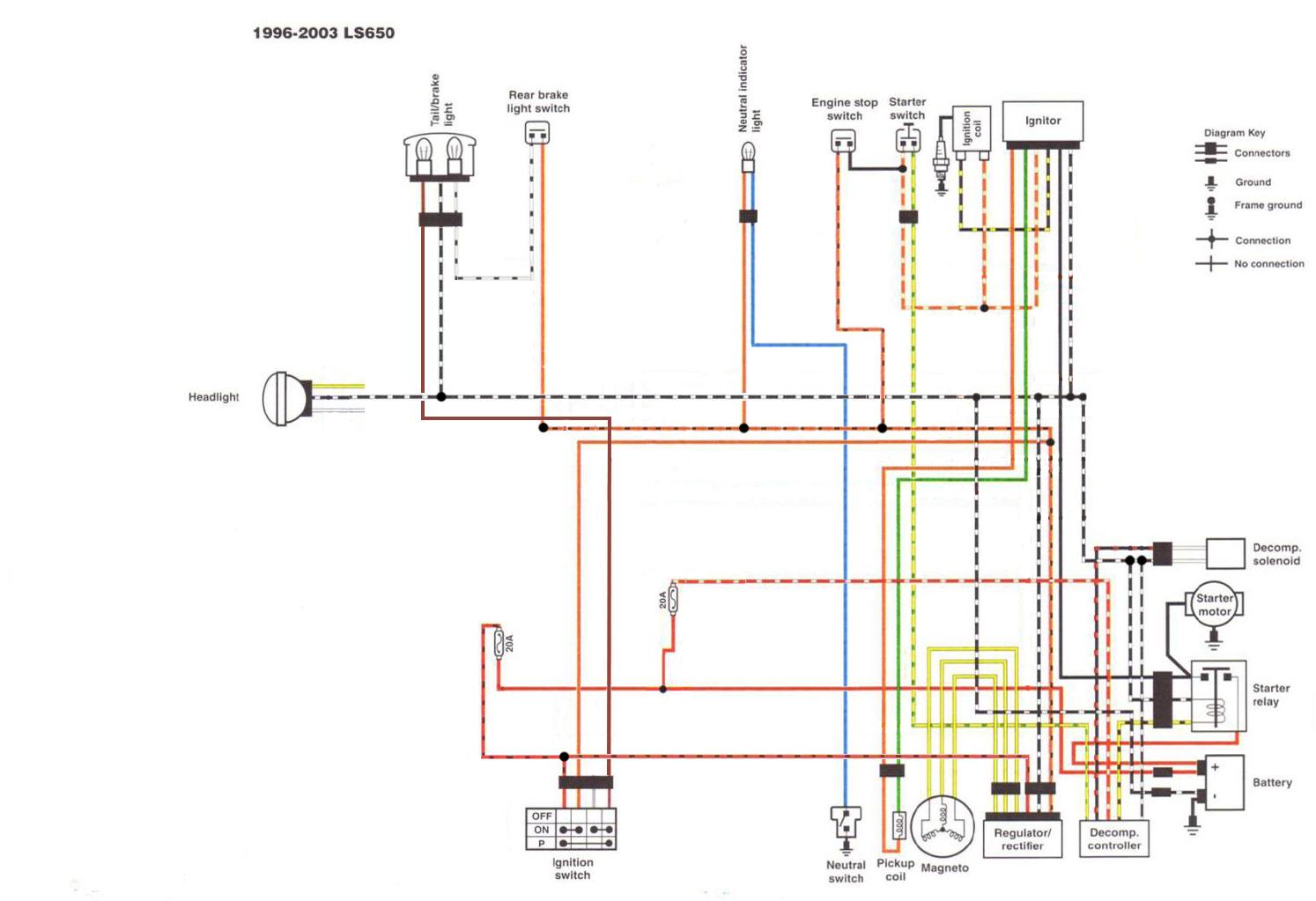Suzuki Motorcycle Wiring Color Codes from suzukisavage.com